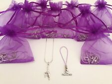 Girls Gymnast Pre Filled Party Bags, Necklace, Charm, Gift/Filler,Gym, Gymnastic