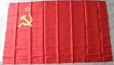 RUSSIA CCCP USSR SOVIET RUSSIAN 3 X 5 FOOT LARGE POLYESTER FLAG