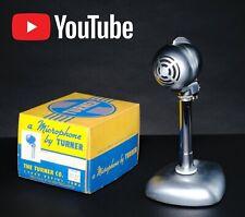 1949 Vintage Turner Microphone Model CD Dynamic Hi with Box Turner C-7 Stand