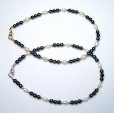 Pearl Anklet Silver or Gold Lyns Jewelry Hematite and Freshwater