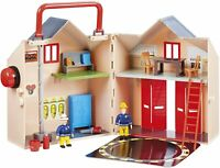 Fireman Sam Deluxe Fire Station Carry Case Toy Playset & Action Figures Set