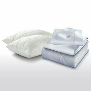 New Purecare The Sleep Kit Pillowcase, Pillow And Comforter Set Light Blue