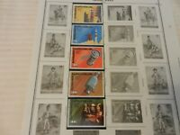Lot of 5 Central African Republic Space Stamps 1976-78 Operation Spatiale