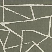 NEW DESIGN PRESTIGIOUS TEXTILES 100% COTTON CURTAIN FABRIC CUBE SMASH GREY P/M