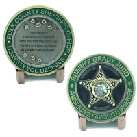 Polk County Sheriff Grady Judd Quotes  Version 3 Challenge Coin MR-008
