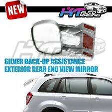 FITS JDM CARS EXTERIOR BACK-UP BLIND SPOT WIDE ANGLE REAR END VIEW MIRROR SILVER