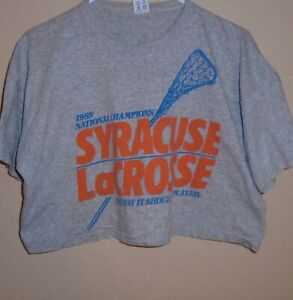 vintage 1988 Syracuse Orangemen Lacrosse Champion t shirt XXL