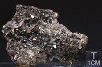 Sphalerit var. Marmatit, Pyrit,Calcit, 58x44x17mm, 44 g,Trepca, Serbien, Kosovo.