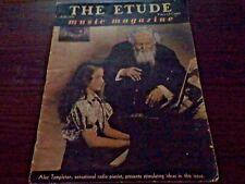 The Etude Music Magazine July 1939 Featuring Alec Templeton, Radio Pianist