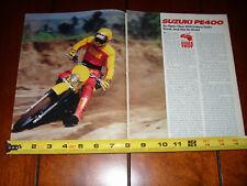 Manuals Literature Ebay. 1980 Suzuki Pe400 Original Vintage Article. Suzuki. Suzuki Pe400 Wiring Diagram At Scoala.co