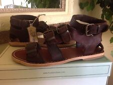 H by Hudson Newton Womens Brown Leather Gladiator Sandal EU38(7-7.5M) MSRP $153