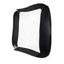 Caja de Luz Softbox Ventana 50x50 Plegable +Anillo para Flash Estudio Foto Video