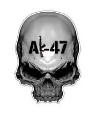 2 AK-47 Skull Decal - Assault Rifle AK47 Skull Sticker Gun laptop ipad decals