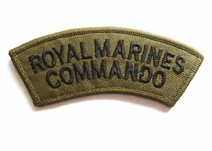 BRITISH ROYAL MARINES COMMANDO PATCH sew on cloth badge elite forces soldier kit