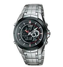 Casio EFA119BK-1A Men's Edifice Analog Digital Thermometer Alarm Chrono Watch