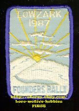 LMH Patch  LONERS ON WHEELS Single Campers Travelers LOWZARK 1987 FOUNDERS RALLY