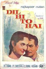 DIL HI TO HAI (1963) PRESS BOOK  BOLLYWOOD NUTAN, RAJ KAPOOR