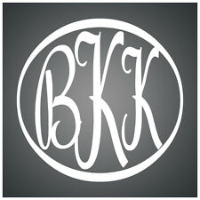"Custom Car or Truck Monogram 5""...VINYL INITIALS LETTERS DECAL STICKER SCRIPT"