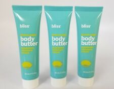 New Bliss Body Butter  Lemon + Sage SEALED TUBES Free Shipping 3 x 1 oz each