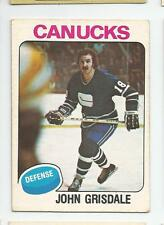 1975-76 OPC #339 JOHN GRISDALE ROOKIE VANCOUVER CANUCKS O-PEE-CHEE