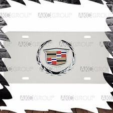 High Quality Stainless Steel 3D Official Cadillac Logo License Plate For Uni US