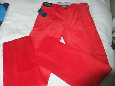 Polo Ralph Lauren Classic Fit Red Luxus Feel Cord Newport Hose 32X32