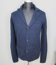Neues AngebotTimberland blau Slim Fit Cardigan SIZE M Knopf Italienische Garn Pullover