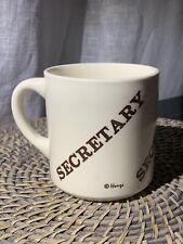 """Secretary"" Mad Men Era Mug, Vintage Houze 12 oz. Cup Usa Stamped"