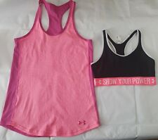 LOT OF 2 Women's UNDER ARMOUR Athletic Sports Bra & Tank Size S (H/E)