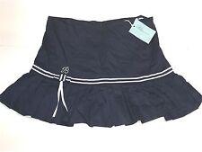Miss Bluemarine Girls Kids Navy PLEAT SKIRT w/ Bow Trim Sz 12 RETAIL: $119