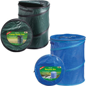 Coghlan's Pop-Up Camp Trash Can/Recycle Bin, Portable Collapsible Camping Basket