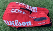 Wilson Tennis Bag Thermo Guard backpack Badminton Racquet Red black
