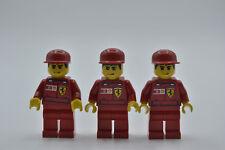 LEGO 3 x Figur Minifigur rac031s F1 Ferrari Record Keeper Rekord-Halter Set 8144