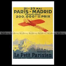 #phpb.000357 Photo PARIS-MADRID 1911 AIR RACE PETIT PARISIEN 1911 Advert Reprint