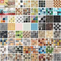 10/20PCS Mosaikfliesen Wand Aufkleber Wasserdicht Badezimmer Wandtattoo Sticker