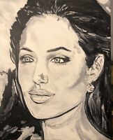 """""""Beauty Among Us"""", Original Painting Stretched Canvas  Art Black And White"""