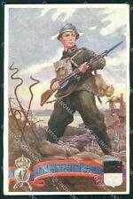 Militari Reggimentali 47º Reggimento Fanteria Ferrara PIEGATA cartolina XF4956