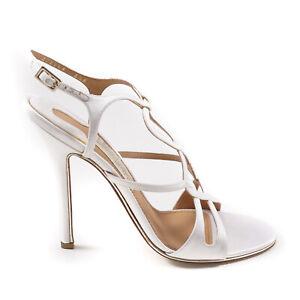 Salvatore Ferragamo 'Delphine' Cutout Satin Heel Pump Sandal 8.5 NIB $850 Shoes