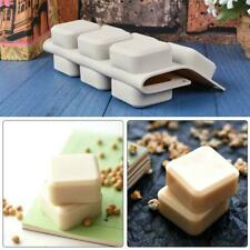 9 Grid DIY Silicone Soap Mold Handmade Soap Making Square Rectangle Tools M G5E4