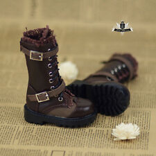 1/4 BJD Shoes MSD Supper Dollfie DREAM EID Brown Boots MID DOD SOOM AOD LUTS DZ