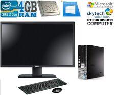 "Rapide Dell 780 Usff Cher Slim PC Pack C2D 22 "" Moniteur 120GB SSD 4GB Wifi"