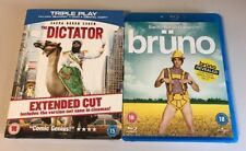 Bruno + The Dictator Blu-Ray 2 Movie Bundle Sacha Baron Cohen Region 2 PAL
