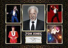 More details for tom jones -signed a4 photo print memorabilia