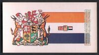 Flag And Standard Banner For South Africa c50 Y/O Trade Ad  Card