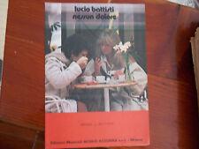 spartito partituras sheet music LUCIO BATTISTI nessun dolore  originale 1978
