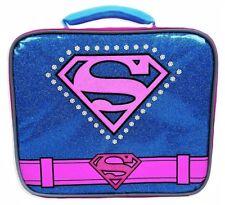 SUPERGIRL SUPERHERO GIRLS DC COMICS Pink PVC & Lead-Safe Lunch Tote Bag Box