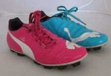 Puma EvoPower Tricks Soccer Cleats / Football Shoes - Blue/Pink LIGHTLY WORN SZ5