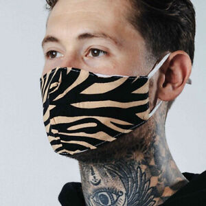 Clearance Hype Sand Zebra Adult Face Mask - Fashion Mask - Face Covering
