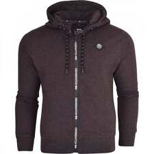 Crosshatch Zip Up Hoodie Hooded Plain Full Zip Thru Jacket Jumper Sweatshirt