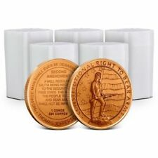 Lot of 100 - 1 oz Copper Rounds 2nd Amendment